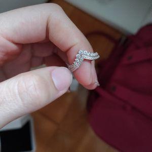 rose gold pandora ring with box